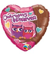 "18"" Owl-Ways & Forever Mylar Balloon"