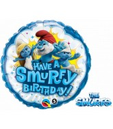 "18"" Have A Smurfy Birthday Licensed Mylar Balloon"