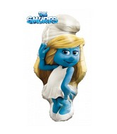 "40"" Smurfette Jumbo Licensed Mylar Balloon Packaged"