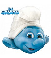 "31"" Clumsy Smurf Jumbo Licensed Mylar Balloon Packaged"