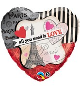 "18"" All You Need Is Love Paris"