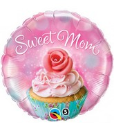 "18"" Sweet Mom Cupcake Balloon"