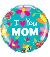 "18"" I (Heart) You Mom Balloon"