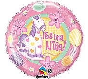 "18"" Es Una Nina Soft Pony Balloon"