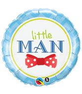 "18"" Little Man Bow Mylar Balloon"