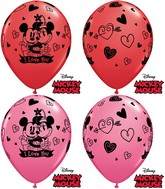 "11"" Mickey Mouse and Minnie Mouse I Love You (25 Count)"