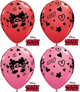 "11"" Mickey Mouse and Minnie Mouse XOXO (25 Count)"