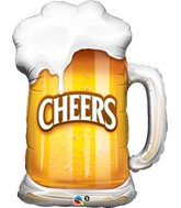 "35"" Cheers! Beer Mug Balloon"