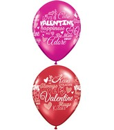 "11"" Sweet Valentine's Messages Around  (50 Count)"
