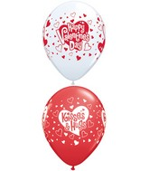 "11"" Valentine&#39s Hugs & Kisses Around (50 Count)"