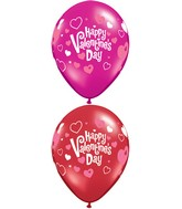 "11"" Valentine&#39s Pink Hearts Around  (50 Count)"