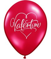 "11"" Romantic Valentine's Day Single Sided Print(50 Count)"
