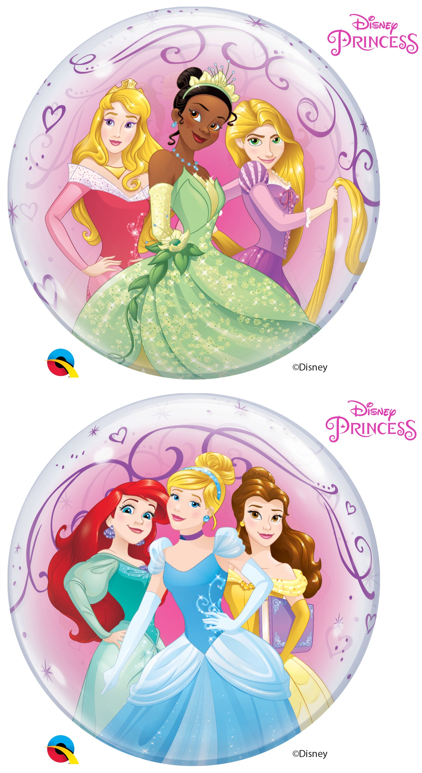 22 Single Bubble Disney Princesses Bargain Balloons Mylar
