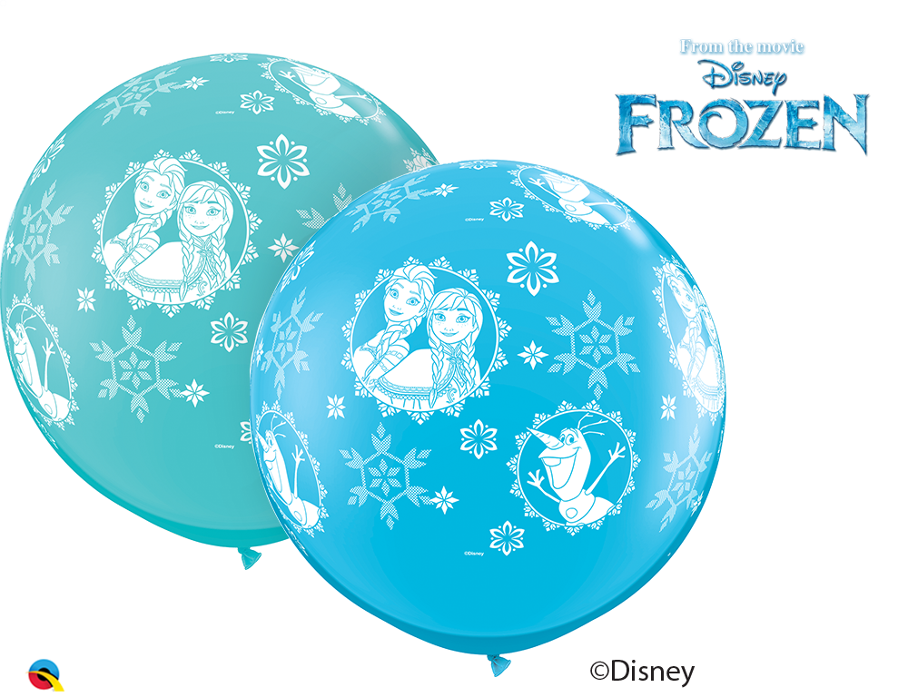 "36"" Assorted 02 Count Anna, Elsa, & Olaf Latex Balloons"