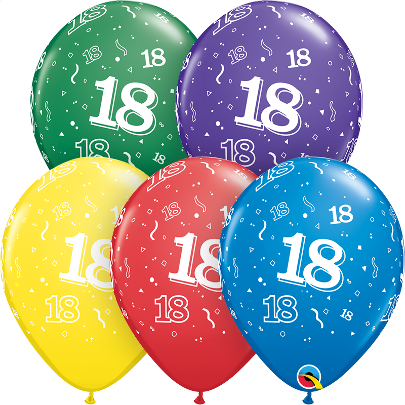 "11"" Special Assorted 50 Count 18 All Around Latex Balloons"