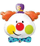 "36"" Shape Cute Clown Foil Balloon"