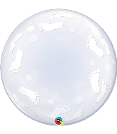 "24"" Deco Bubble Baby Footprints"