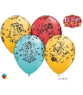 "11"" Special Assorted 25 Count Elena Cameos Latex Balloons"