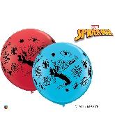 "36"" Spiderman Balloons Red and Robin&#39s Egg Blue"