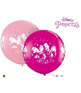 "36"" Pink&Berry 02 Count Disney Princesses Latex Balloons"