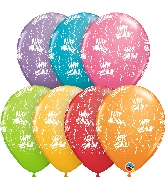"11"" Festive Assorted 50 Count Birthday Latex Balloons"