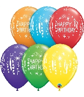 "11"" Rainbow 50CT Birthday Candles Latex Balloons"