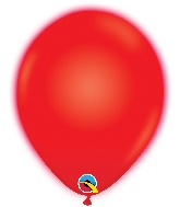 "11"" Q-Lite Red 5 Count Qualatex Light Up Latex Balloons"