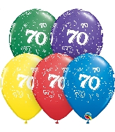 "11"" Special Assorted 50 Count 70 All Around Latex Balloons"