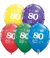 "11"" Special Assorted 50 Count 80 All Around Latex Balloons"