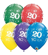 "11"" Special Assorted 50 Count 20 All Around Latex Balloons"