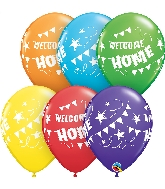 "11"" Bright Rainbow 50CT Welcome Home Latex Balloons"