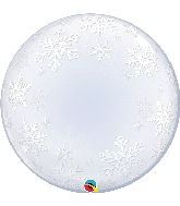 "24"" Frosty Snowflakes Deco Bubble Balloon"