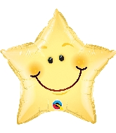 "20"" Smiley Face Star Foil Balloon"