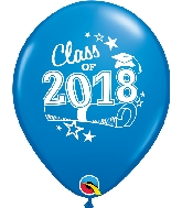 "11"" Class of 2018 Latex Balloons 50 Count Dark Blue"