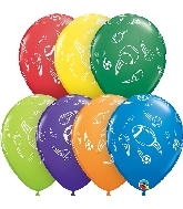 "11"" Sports Balls Carnival Assortment Latex Balloons"