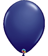 "16"" Qualatex Latex Balloons  Navy 50CT"