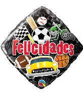 "18"" Felicidades Sports Foil Balloon"