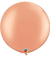 "30"" Qualatex Latex Balloons Pearl Rose Gold 02CT"