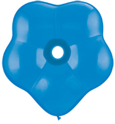 "16"" Geo Blossom Latex Balloons  (25 Count) Dark Blue"