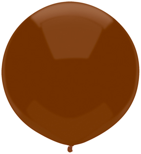 "17"" Outdoor Display Balloons (72 Count) Chestnut Brown"