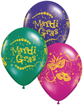 "11"" Mardi Gras Masks & Beads Assorted  (50 ct.)"