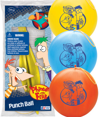"14"" Phineas and Ferb 1 ct. Punch Ball"
