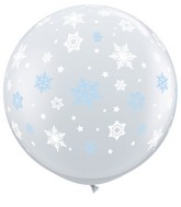 "36"" Winter Snowlakes Latex Balloons"
