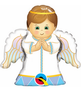 "14"" Airfill Angel Boy Shape Balloon"