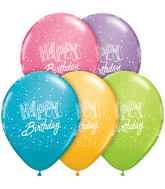 "11"" Happy Birthday Confetti Festive Assortment (50 ct.)"
