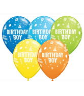 "11"" Birthday Boy Assorted (50 ct.)"