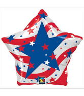 "18"" Patriotic Stars Balloons (Slight Damage Print)"