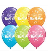 "11"" Birthday Streamers & Stars Assorted (50 ct.)"