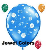 "11"" Sport Balls Jewel Assortment (50 ct.)"