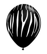 "11"" Zebra Stripes Onyx Black (50 ct.)"